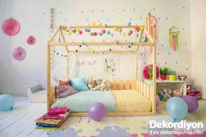 Montessori Yatağı Süsleme
