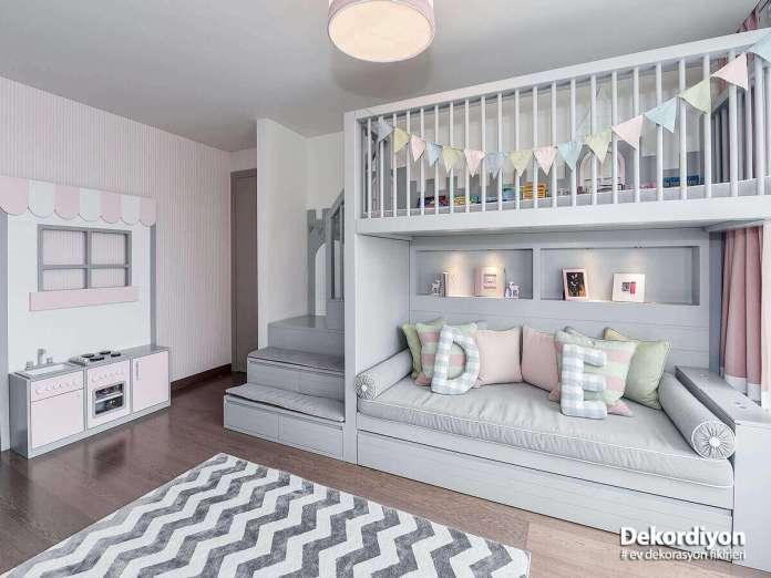 Akıllı mobilyalar ile kardeş odası