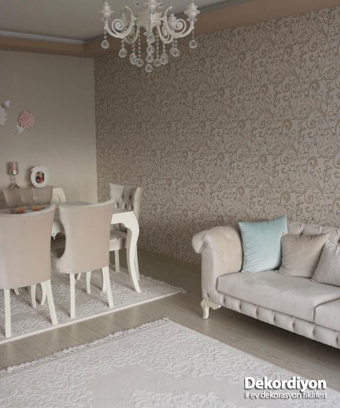 Salonda yaz havası için duvar kağıtları