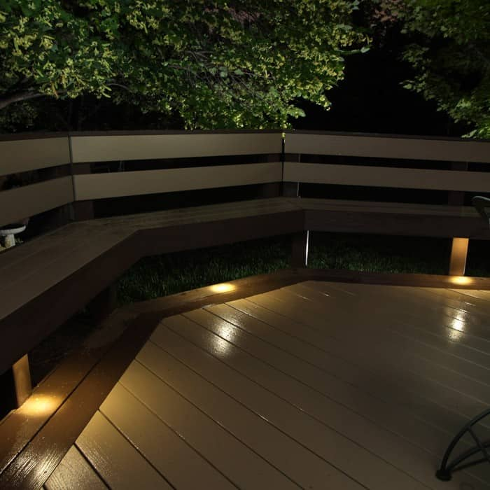 outdoor led recessed up down light kit