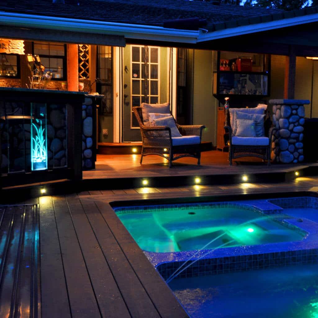 pool deck lighting led lights for