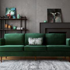 Lime Green Sofa Living Room Ideas Doc Bunk Bed 1 Yeşil Kadife Koltuk Ile 15 Farklı Salon Dekorasyonu