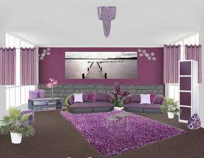 moderne wohnzimmer lila. Black Bedroom Furniture Sets. Home Design Ideas
