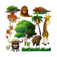 Kids Animal Wall Stickers.Animal Wall Decals For Kids Room ...