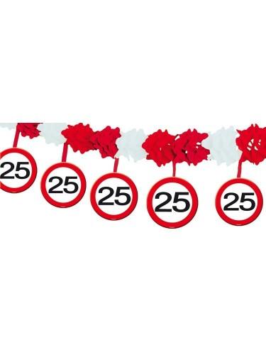 4m Girlande 25 Geburtstag