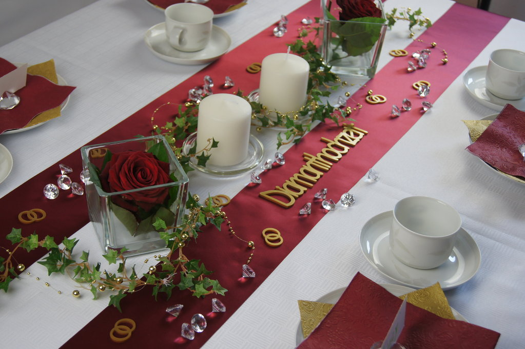Tischdeko Diamantene Hochzeit Selber Machen