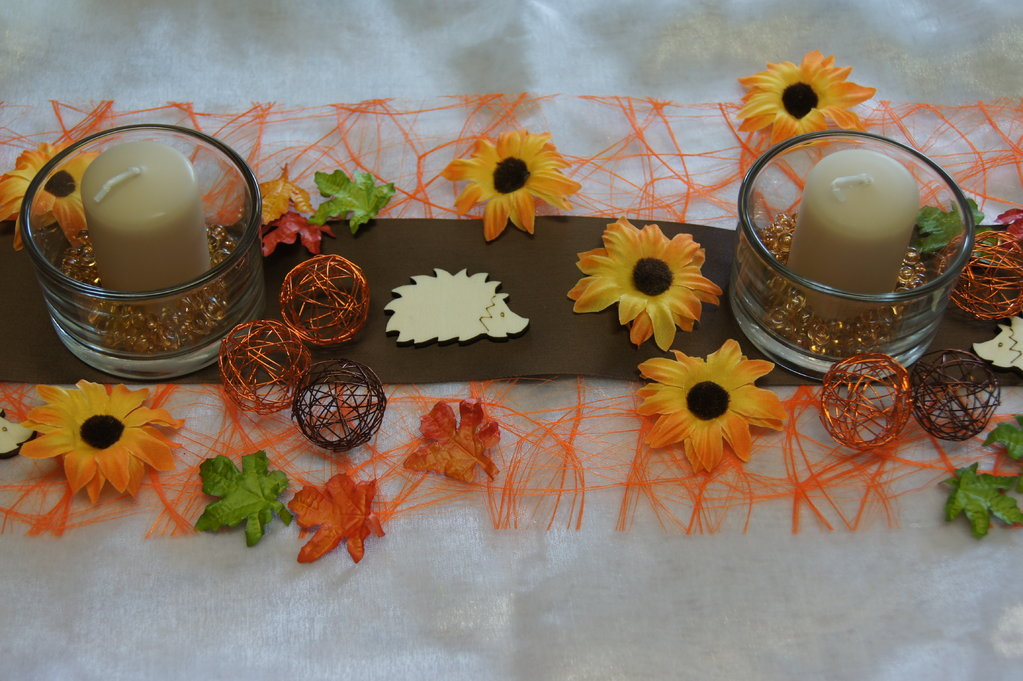 Tischdeko Herbst Sonnenblumen  Tischdeko Shop