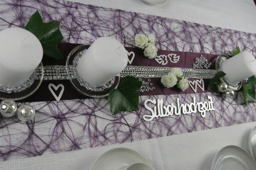 Tischdeko Silberhochzeit 2  Tischdeko Silberhochzeit Shop