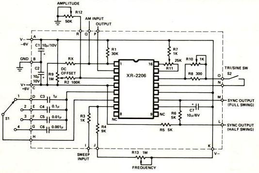 circuit diagram of function generator