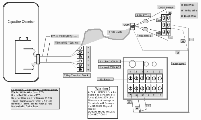 4 wire rtd connections diagrams