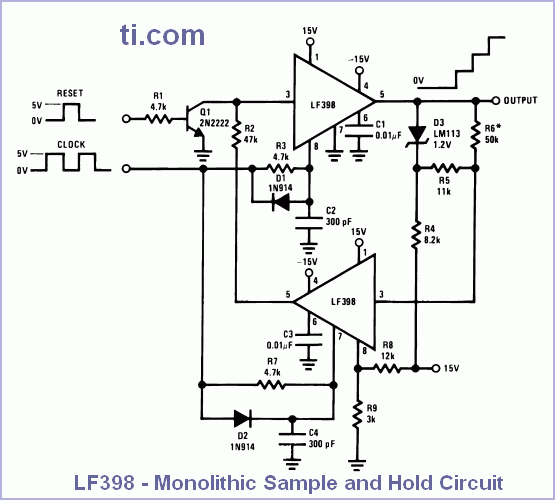 LF398 - Monolithic Sample and Hold Circuit