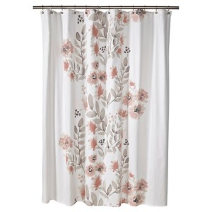 coral blooms shower curtain
