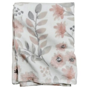 coral blooms towel