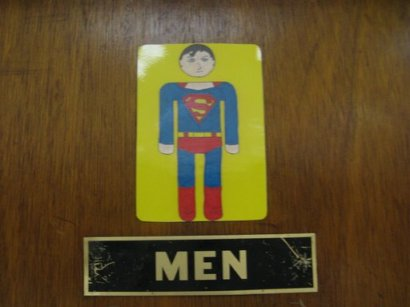 Super men's room.