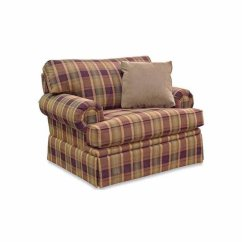 Chair And A Half Glider Recliner Diy Covers Plaid Living Room Chairs