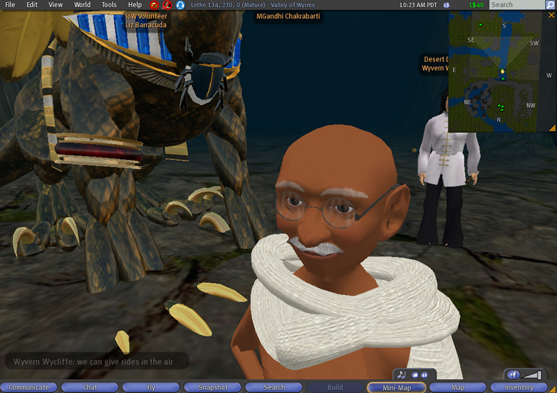 MGandhis March in Second Life  Joseph DeLappe