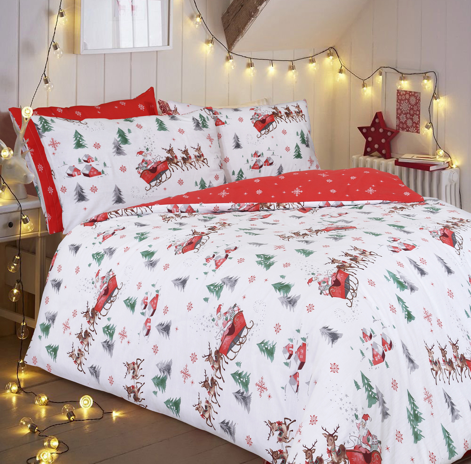 christmas elf chair covers cochrane oak table and chairs santa sleigh duvet cover set wholesale bedding store