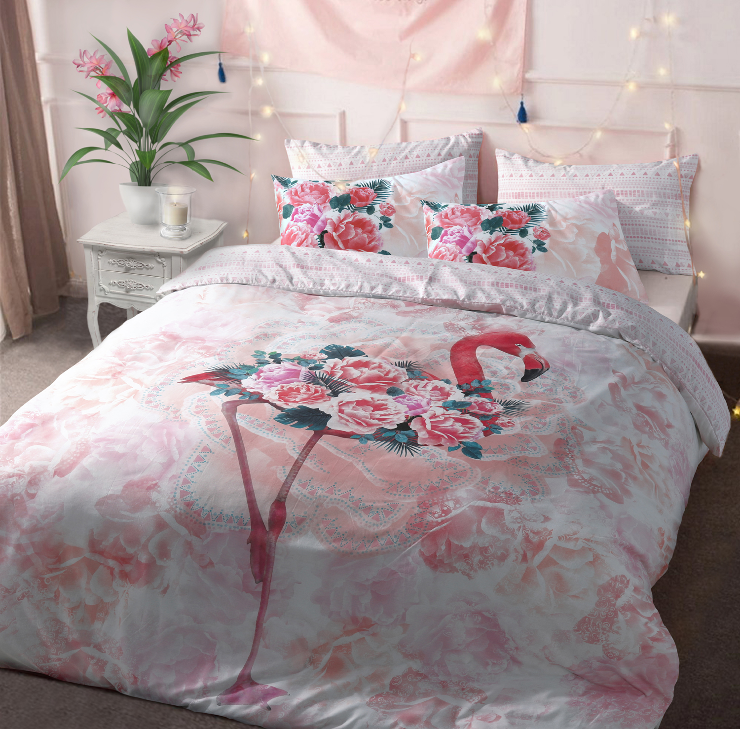 Flamingo Duvet Cover Set and Reversible Bedding