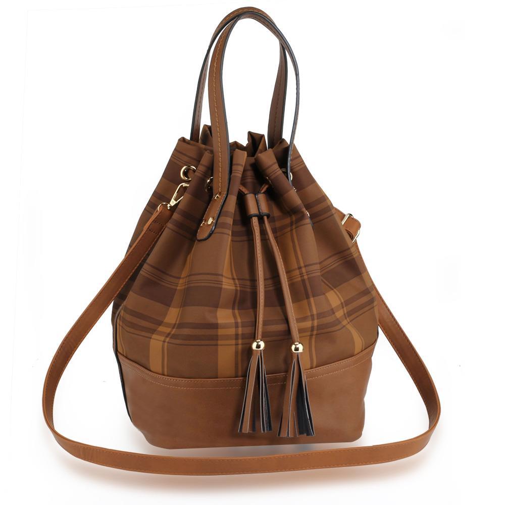 AG00622  Womens Drawstring Bucket Bag  De Lavish
