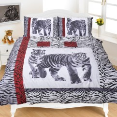 Tiger Print Sofa Set Rent Bed Tigers Duvet Cover Printed Christmas Animal Bedding