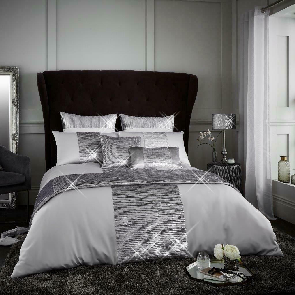 luxury glitter duvet cover set crushed velvet bedding