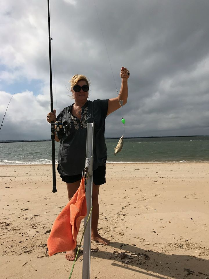 bluefish, the point, delaware, sussex county, surf fishing,