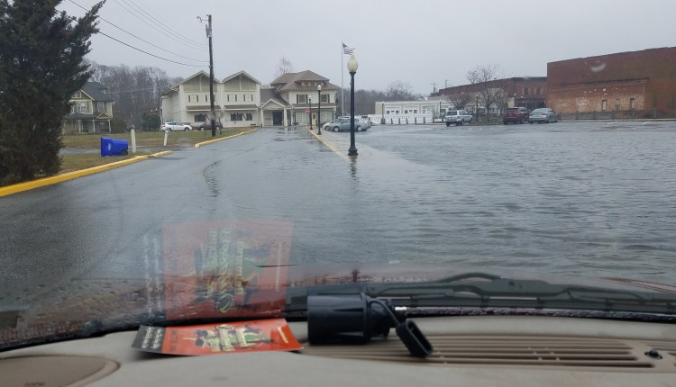 The puddle in Milton that doesn't drain at high tide.