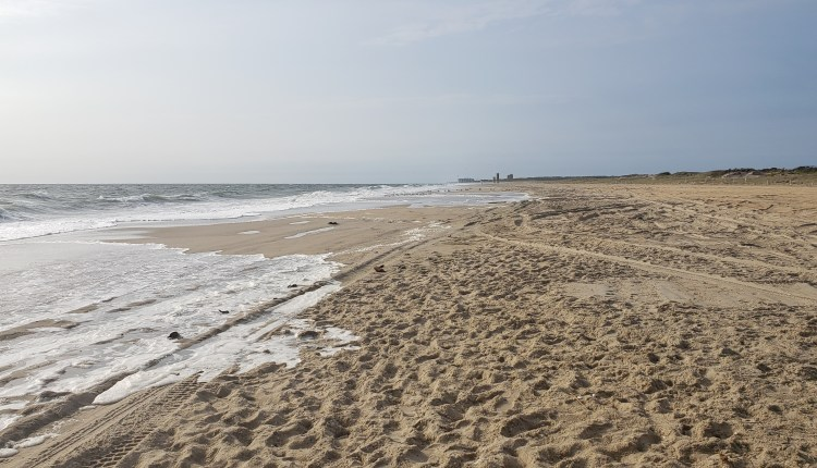The beaches on Tuesday were in good shape, but water was washing over the edges onto the main driving area.