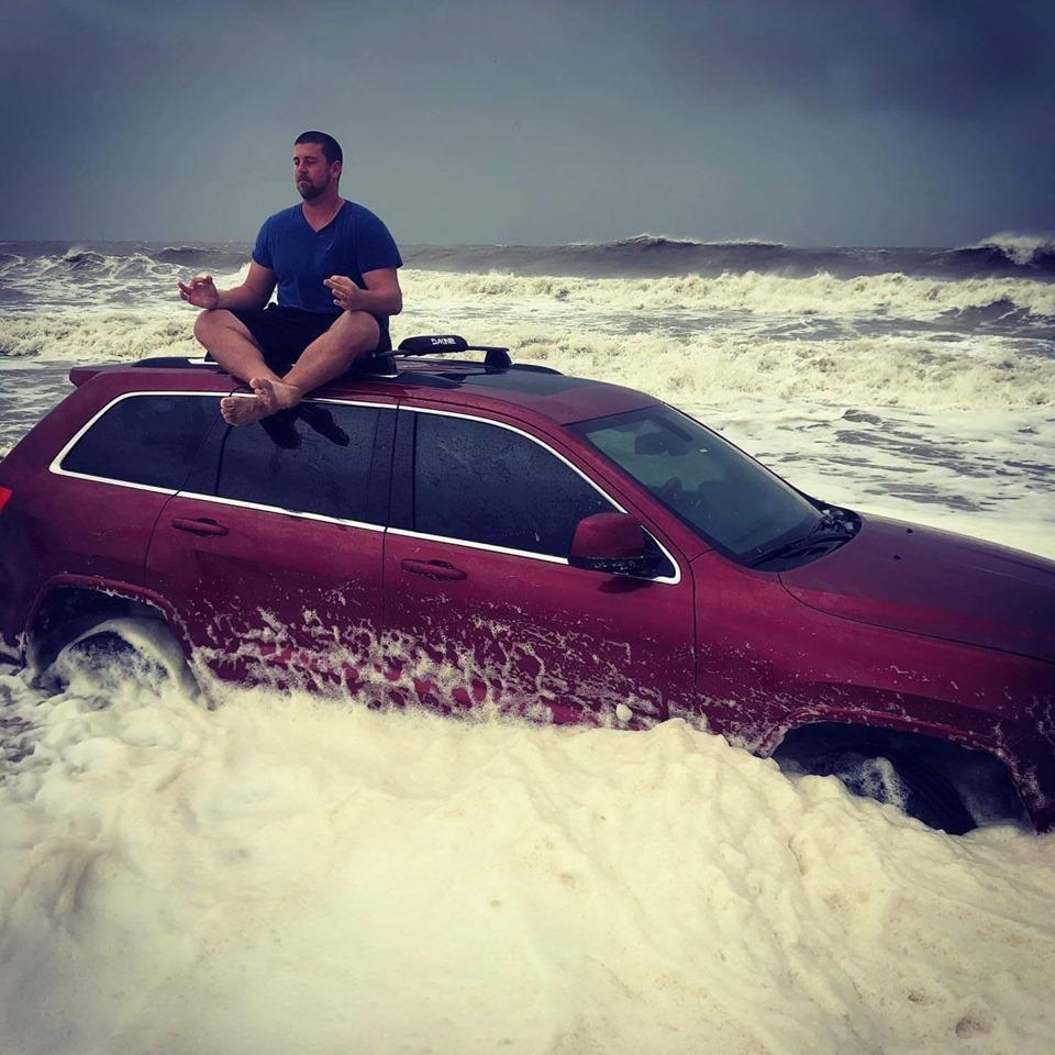 jeep, myrtle beach, salt life, hurricane dorian