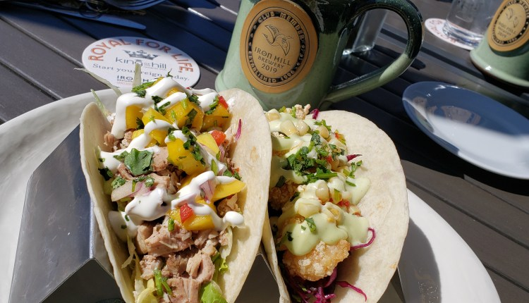 Iron Hill Brewery's tacos, excellent food.
