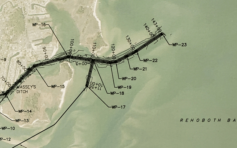 bakers channel, rehoboth bay, masseys ditch dredge project, inland bays, army corp of engineers,  dnrec,