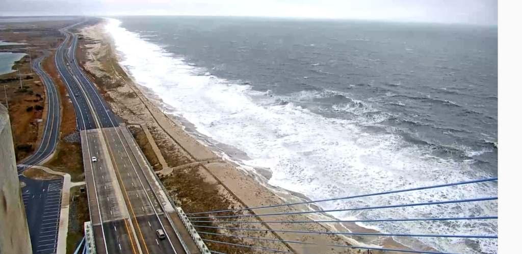 deldot traffic cam. northbeach, indian river inlet, dewey beach, coin beach, faithful steward, eroded beach, storm surge