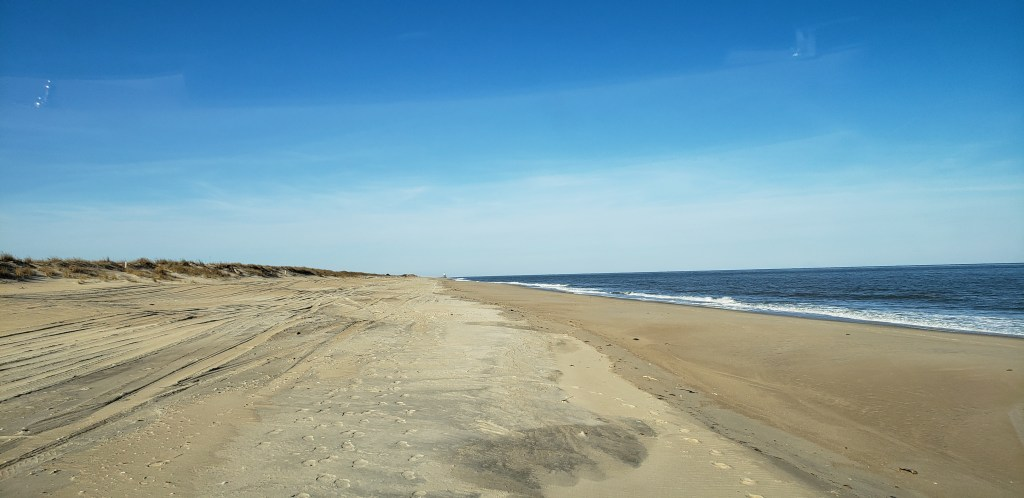 Navy crossing, cape henlopen state park, delaware surf fishing, OSV beach, drive on beach
