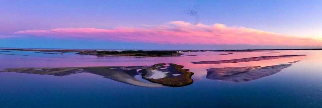 driscoll drones, masseys ditch dredge project, indian river bay, middle island, bird island, long neck, pot nets, masseys landing,