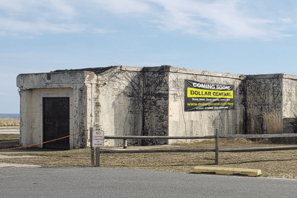 dollar general, delaware state parks, cape henlopen, herring point bunker