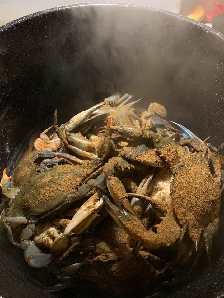 blue claw crab, delaware, inland bays, indian river bay, assawoman bay, rehoboth bay, hard crabs, crab rings, steamed crabs, old bay, JO spice