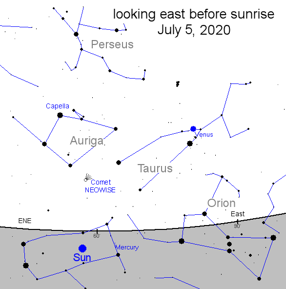 Comet NEOWISE location, new comet, space photos, Delaware, sussex county