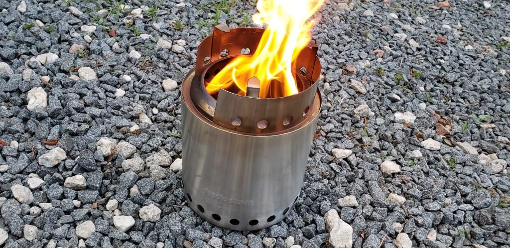 solo stove,, beach fire, delaware surf fishing
