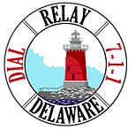 Delaware TRS logo with red lighthouse in center