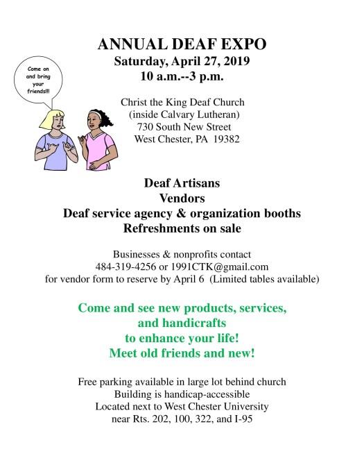 April 27, 2019 10a-3p at Christ the King Deaf Church