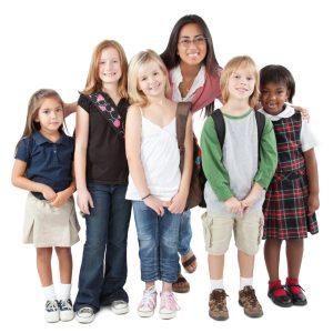 Group-of-school-kids-with-teacher