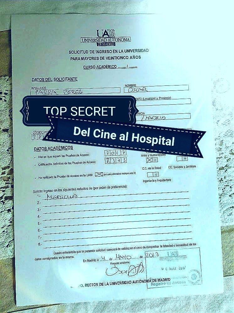 DEL CINE AL HOSPITAL De pre-inscripciones, amistades y compromisos.