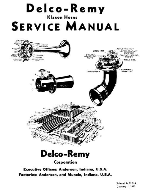 Manual klaxon horn