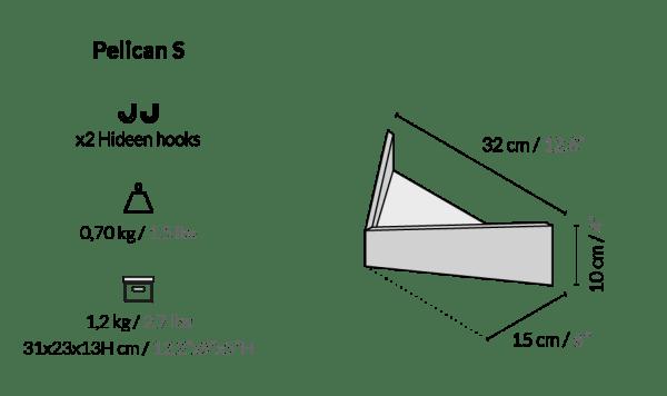Balda Pelican tamaño pequeño de Woodendot