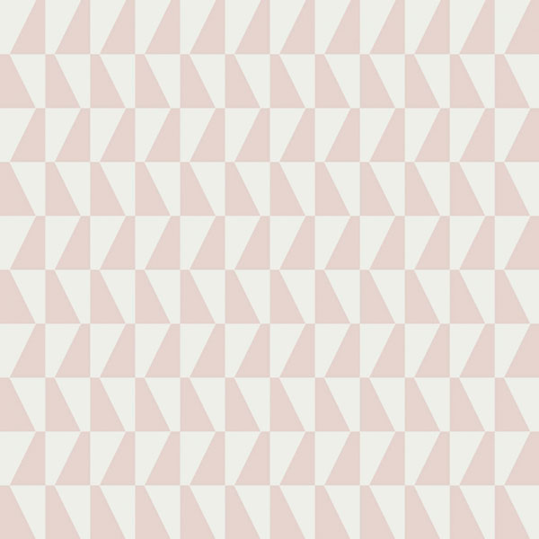 Papel pintado Trapez II en color rosa de la colección Scandinavian Designers II de Borastapeter