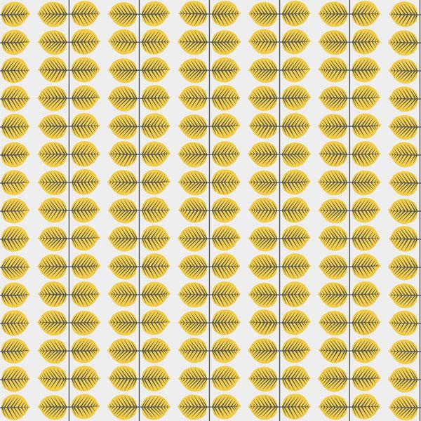 Papel pintado Bersa en color amarillo de la colección Scandinavian Designers II de Borastapeter
