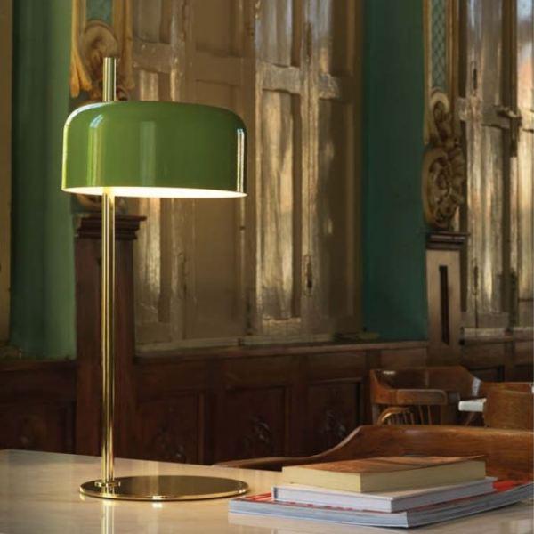 Lámpara de mesa Lalu de Aromas del Campo con pantalla metálica realizada en cualquier color de la carta RAL