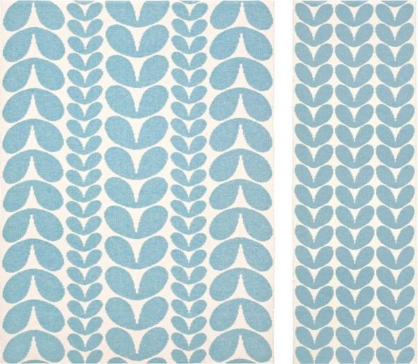 Alfombra de plástico Karin Blue de Brita Sweden
