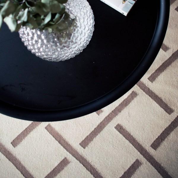 Alfombra de lana Link Beige/Brown de Nordic Knots