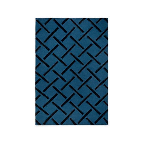 Alfombra de lana Link Blue de Nordic Knots